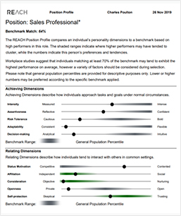 REACH Sales Position Profile for Recruiting